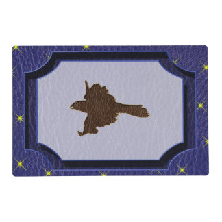Leather-Look Native American Zodiac Falcon Placemat