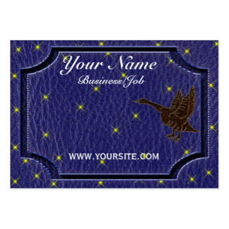 Leather-Look Native American Zodiac Goose Business Card Template