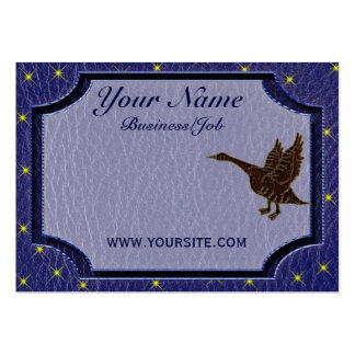 Leather-Look Native American Zodiac Goose Business Card