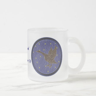Leather-Look Native American Zodiac Goose Frosted Glass Coffee Mug