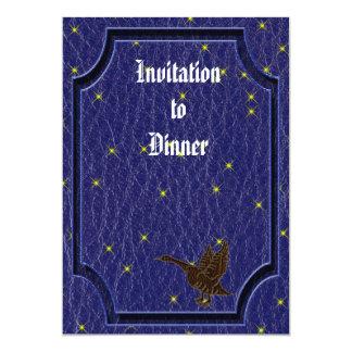 Leather-Look Native American Zodiac Goose 5x7 Paper Invitation Card