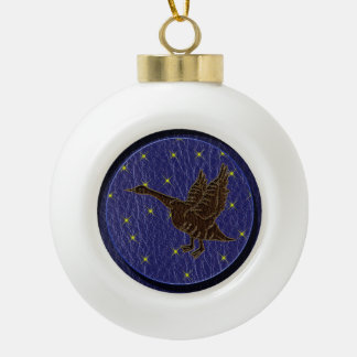 Leather-Look Native American Zodiac Goose Ornaments