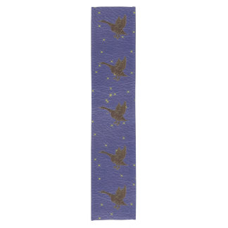 Leather-Look Native American Zodiac Goose Short Table Runner