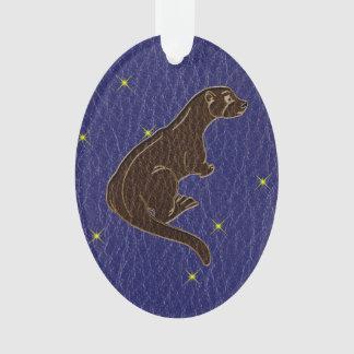 Leather-Look Native American Zodiac Otter
