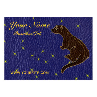 Leather-Look Native American Zodiac Otter Business Cards