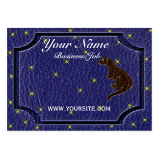 Leather-Look Native American Zodiac Otter Business Card