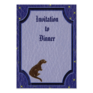 Leather-Look Native American Zodiac Otter 5x7 Paper Invitation Card