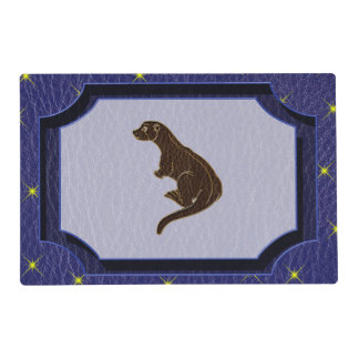 Leather-Look Native American Zodiac Otter Placemat
