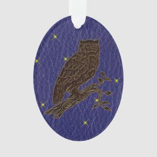 Leather-Look Native American Zodiac Owl