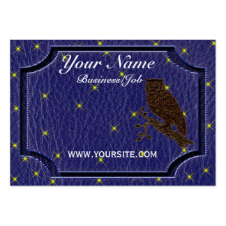 Leather-Look Native American Zodiac Owl Business Card Template