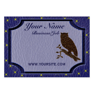 Leather-Look Native American Zodiac Owl Business Card Templates