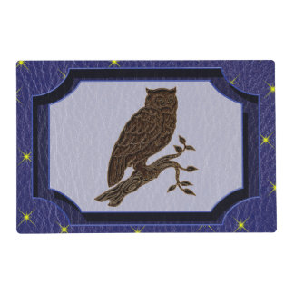 Leather-Look Native American Zodiac Owl Placemat