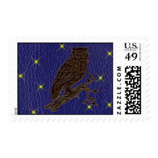 Leather-Look Native American Zodiac Owl Stamps
