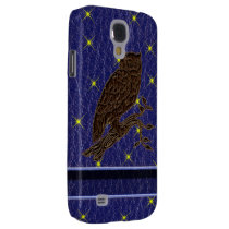 Leather-Look Native American Zodiac Owl Samsung S4 Case