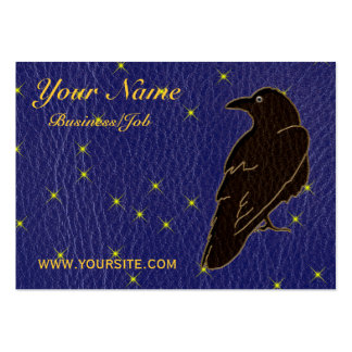 Leather-Look Native American Zodiac Raven Business Card