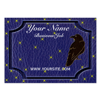Leather-Look Native American Zodiac Raven Business Card Templates