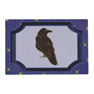 Leather-Look Native American Zodiac Raven Placemat