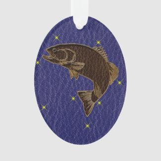 Leather-Look Native American Zodiac Salmon