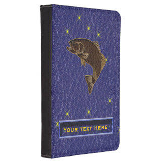 Leather-Look Native American Zodiac Salmon Kindle Cover