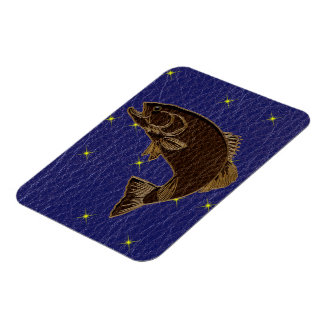 Leather-Look Native American Zodiac Salmon Magnet