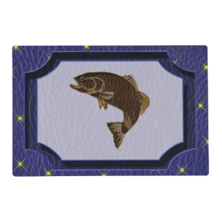 Leather-Look Native American Zodiac Salmon Placemat