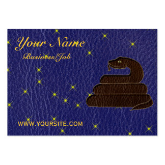 Leather-Look Native American Zodiac Serpent Business Card