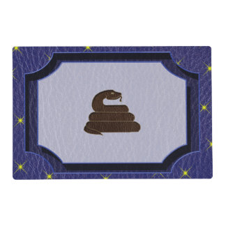 Leather-Look Native American Zodiac Serpent Placemat