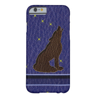 Leather-Look Native American Zodiac Wolf Barely There iPhone 6 Case