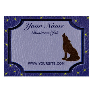 Leather-Look Native American Zodiac Wolf Business Card