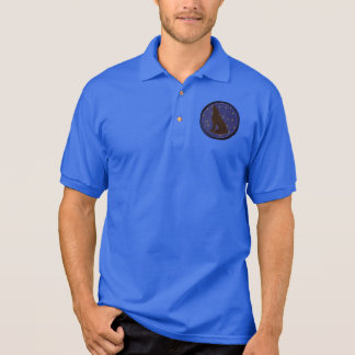 Leather-Look Native American Zodiac Wolf Polo T-shirt