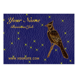 Leather-Look Native American Zodiac Woodpecker Business Card Templates