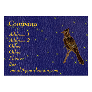 Leather-Look Native American Zodiac Woodpecker Business Cards