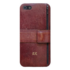 Leather-look Organizer Effect On Iphone 5 Case at Zazzle