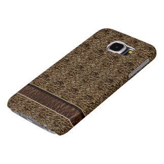 Leather-Look  Ornament Dark Samsung Galaxy S6 Case