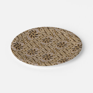 Leather-Look  Ornament Soft Paper Plate