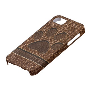 Leather-Look Paw iPhone 5 Covers