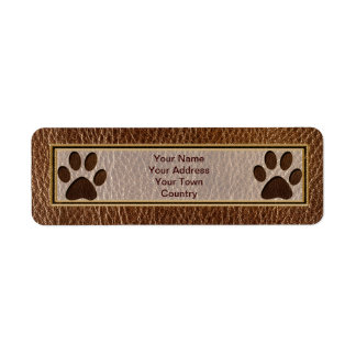 Leather-Look Paw Label