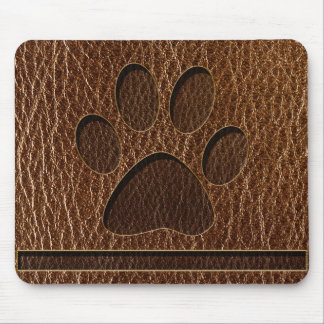 Leather-Look Paw Mouse Pad