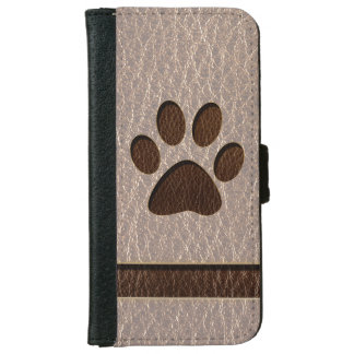 Leather-Look Paw Soft iPhone 6/6s Wallet Case