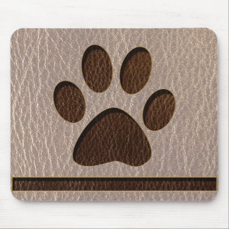 Leather-Look Paw Soft Mouse Pad