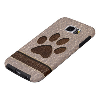 Leather-Look Paw Soft Samsung Galaxy S6 Case