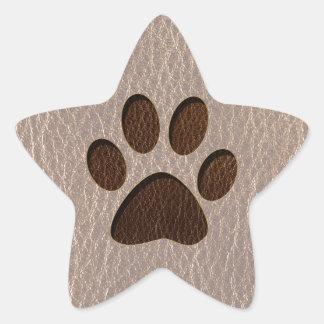 Leather-Look Paw Soft Star Sticker