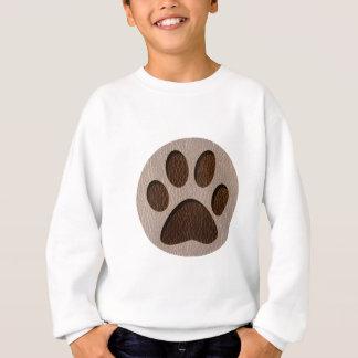 Leather-Look Paw Soft Sweatshirt
