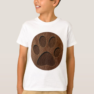 Leather-Look Paw T-Shirt