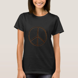 Leather-Look Peace Brown Dark T-Shirt