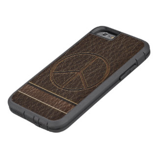 Leather-Look Peace Brown Dark Tough Xtreme iPhone 6 Case