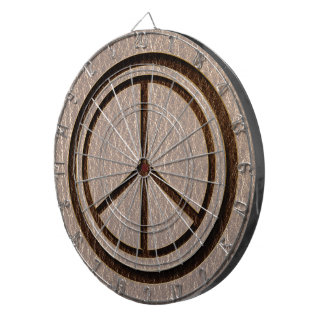 Leather-Look Peace Brown Soft Dart Board