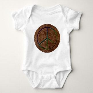 Leather-Look Peace Colour Baby Bodysuit