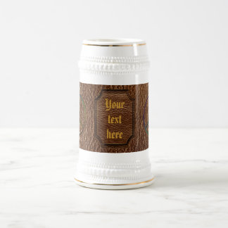 Leather-Look Peace Colour Beer Stein