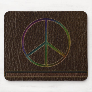 Leather-Look Peace Colour Dark Mouse Pad